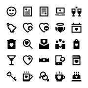 Love Icons Set - stock illustration