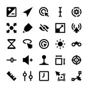 Selection, Cursors, Resize, Move, Controls and Navigation Arrows Icons Vector Stock Illustration