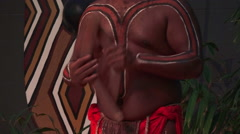 Aboriginal man dance Stock Footage