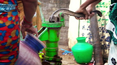 India water pumping from a well Stock Footage