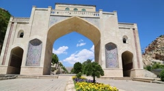 In iran shiraz the old gate arch Stock Footage