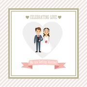 Married design. Wedding icon. Colorful illustration , vector - stock illustration