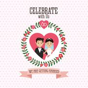 Married design. Wedding icon. Colorful illustration , vector Stock Illustration