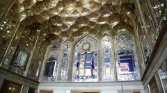 in iran  the old antique mosque - stock footage