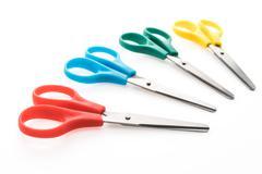 Colorful scissor - stock photo