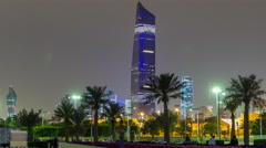 Tallest building in Kuwait City timelapse hyperlapse - the Al Hamra Tower at - stock footage