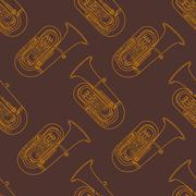 Classical music instruments seamless pattern. Stock Illustration