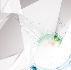 Abstract geometry technology background. Stock Illustration