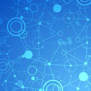 Network  technology/science communication background - stock illustration