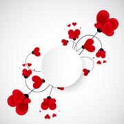 Abstract vector background. Flowers made with heart shape. Stock Illustration