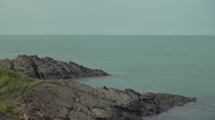 Picturesque Sea Rocks in Blue Water 4K Stock Footage