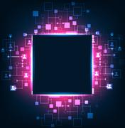 Abstract background, technology theme of social media. - stock illustration