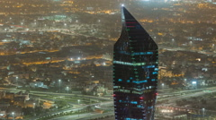 Kuwait City cityscape night timelapse is the capital of Kuwait Stock Footage