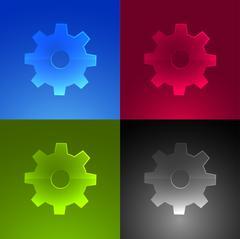 Set of cogwheel web icons. - stock illustration