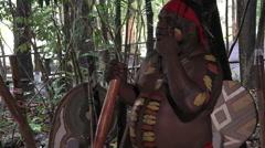 Aboriginal man explain about didgeridoo Arkistovideo