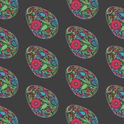 Floral easter egg background. Stock Illustration