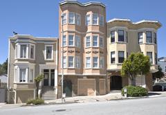 San Francisco residential neighborhood California. - stock photo