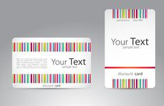 Set of visit cards for your business Stock Illustration