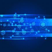 Network color technology communication background. - stock illustration