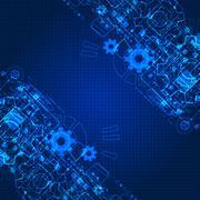 Abstract engineering future technology background. - stock illustration