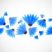 Abstract nature background. Blue cornflowers. - stock illustration