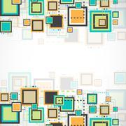 Vector grunge retro square background. - stock illustration