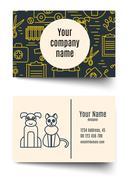 Veterinary pet health care animal medicine business card Piirros