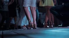 Dance floor dancing feet Stock Footage