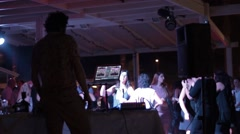 Dj at a Wedding Party Stock Footage