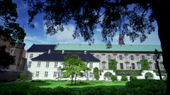 Palace with garden in Copenhagen Stock Footage
