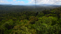 Skyrail Rainforest Cableway Cairns Queensland Australia - stock footage