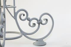 Forged metal products. Flowers and leaves are forged and coated with a primer - stock photo