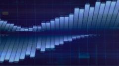 Sinous bar graph. - stock footage