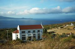 Monte Maria Church overlooking island sea Stock Photos