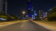 Drive through the traffic in the city highway timelapse hyperlapse in Kuwait - stock footage