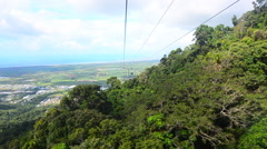 Skyrail Rainforest Cableway Cairns Queensland Australia Stock Footage