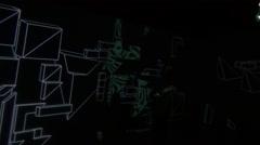 Woman Walking in a Dark Room Stock Footage