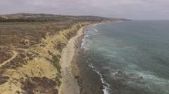 Crystal Cove Coastline, Southern California Stock Footage