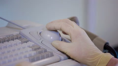 Medical staff working with automatic machine - stock footage