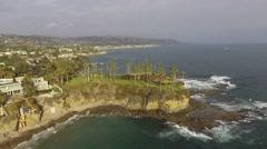 Laguna Beach Coastline, Southern California 2.7K HD Stock Footage