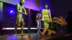 Aboriginal people dance Stock Footage