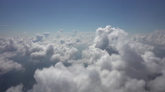 Flight sideways Above Clouds 4K perfect loop Stock Footage