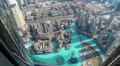 Top view on Address hotel and Burj Khalifa Lake, Dubai, United Arab Emirates Footage