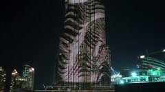 Burj Khalifa - megatall skyscraper, Dubai, United Arab Emirates Stock Footage