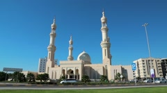 Sheikh Zayed Al Nahyan mosque, Dibba, United Arab Emirates Stock Footage