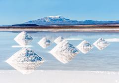 Salt lake - Salar de Uyuni in Bolivia Stock Photos
