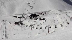 Ski Resort, Snowpark Stock Footage