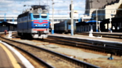 railway station,  train, blurred, transportation - stock footage