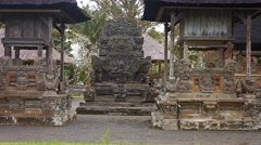 Ceremonial structures at Taman Ayun, the royal Hindu temple in Bali, Indonesi Stock Footage