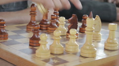 Close-Up Of Chess Game Tournament Stock Footage